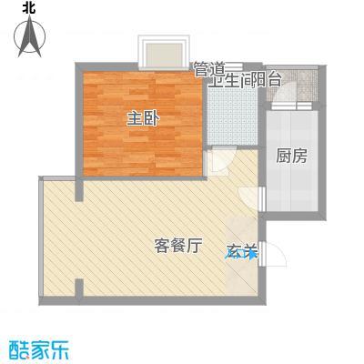 丽港美度19号楼D'D反户型1室1厅1卫1厨