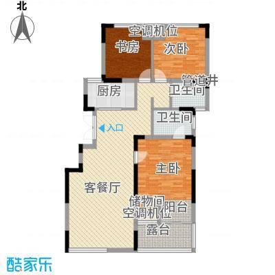 紫玉山庄115.74㎡一期4号楼三层302、303户型3室2厅2卫1厨