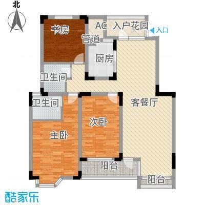 中冶钟鼎山庄145.30㎡A3户型3室2厅2卫1厨