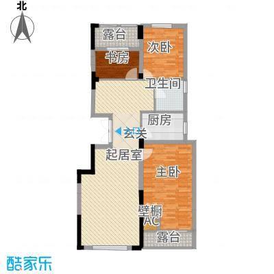 紫玉山庄101.28㎡二期2号楼3层303室户型3室2厅1卫1厨