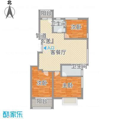 凯铂精品酒店108.35㎡煊赫门B1/B3户型3室2厅2卫1厨