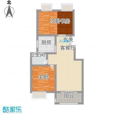 凯铂精品酒店99.35㎡煊赫门B2户型3室2厅1卫1厨