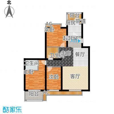 丽园B区丽园B区户型图B区18.20号楼标准层3室2厅2卫1厨户型3室2厅2卫1厨