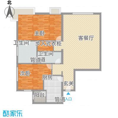 白金公寓178.00㎡2居户型2室2厅2卫1厨