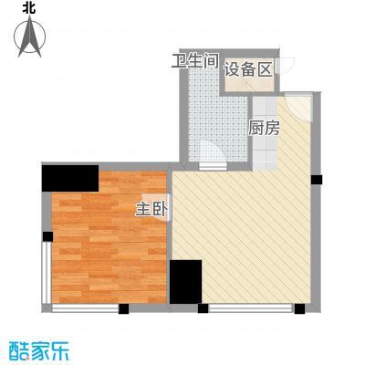 国融国际A13户型1室2厅1卫1厨