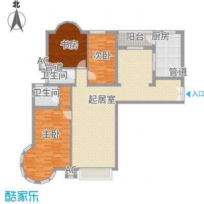 大雄城市花园一幅画卷159.33㎡户型3室2厅2卫1厨