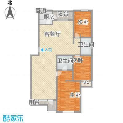 月桂庄园别墅D1户型3室2厅2卫1厨
