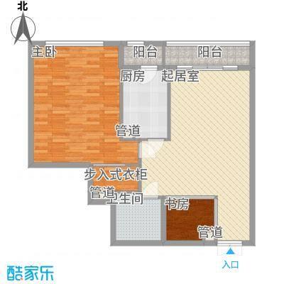 鹏丽国际公寓113.00㎡户型1室1厅1卫1厨