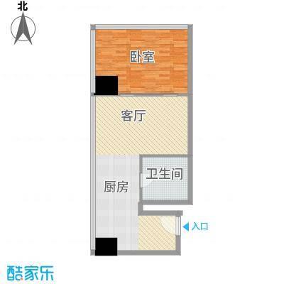 新街口苏宁生活广场81.00㎡标准层户型E户型1室1厅1卫1厨