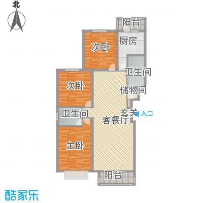书海文园139.96㎡J户型3室2厅2卫1厨
