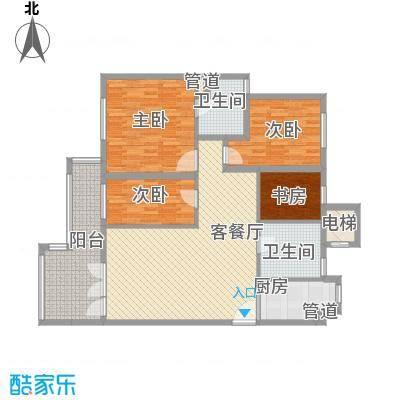无庶4#楼F-3户型4室2厅2卫1厨