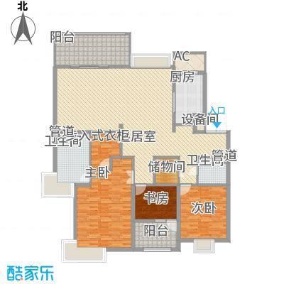 天正滨江183.51㎡1期2、5号楼标准层E1户型3室2厅2卫