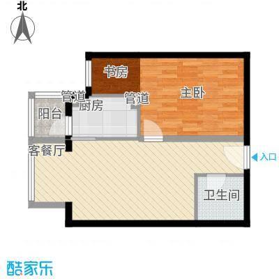 成远大厦户型1室1厅1卫1厨