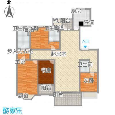 天正滨江226.78㎡1期3栋标准层F1户型4室2厅3卫