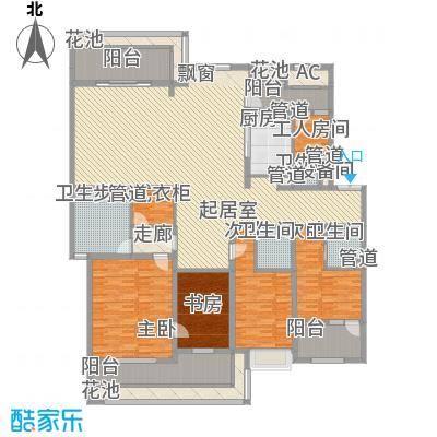 天正滨江225.46㎡1期6号楼标准层C2户型4室2厅3卫