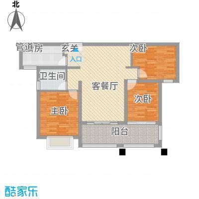 莱蒙水榭春天108.00㎡D户型(108-110㎡)家配图户型3室2厅1卫1厨