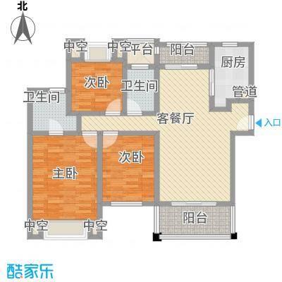 莱蒙水榭春天130.00㎡A户型(130-133㎡)家配图户型3室2厅2卫1厨