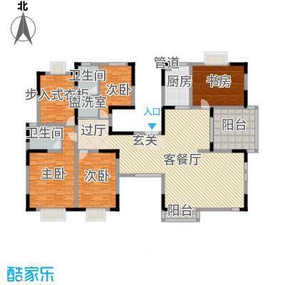 奥体新城一期1、2号楼2-11层E户型4室2厅2卫1厨