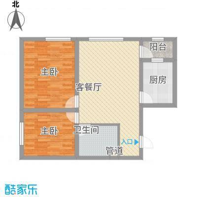 朗诗国际街区朗诗国际街区2室2厅1卫1厨户型2室2厅1卫1厨