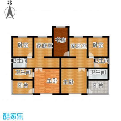 恒盛·藝墅151.55㎡叠拼四层平面图户型3室4卫