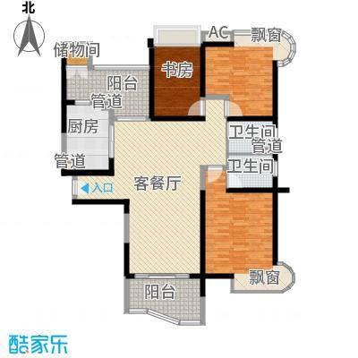 雅居乐藏龙御景139.00㎡项目标准层F-01户型3室2厅2卫1厨