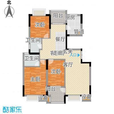 中粮彩云居118.00㎡5、6栋标准层F户型3室2厅2卫