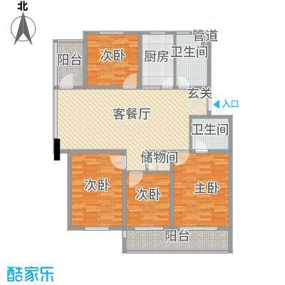 金东城雅居140.00㎡D户型2室2厅2卫1厨
