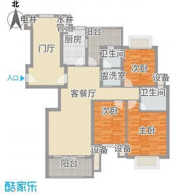 威尼斯水城别墅户型3室2厅2卫1厨