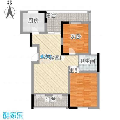 大华锦绣华城90.00㎡三期花园洋房J3户型2室2厅1卫1厨