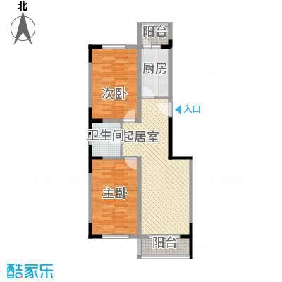 观音寺北里B2户型2室2厅1卫1厨