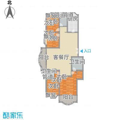 21世纪・世纪园207.00㎡21世纪・世纪园户型图21世纪世纪园4室2厅3卫1厨户型4室2厅3卫1厨
