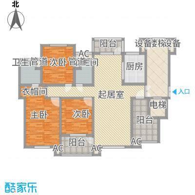 九岛梦都城二期住宅g户型户型3室2厅2卫1厨