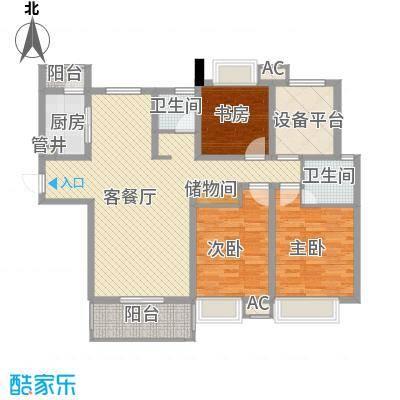 紫晶广场139.00㎡二期3号楼7-31层D户型3室2厅2卫1厨