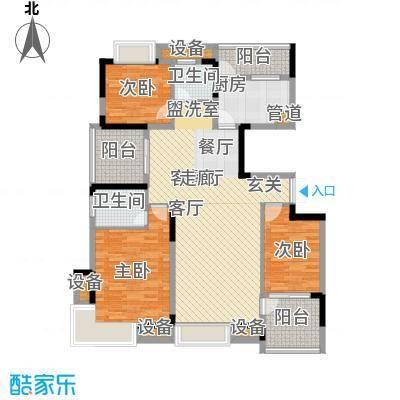 中粮彩云居118.00㎡5、6、9栋G户型3室2厅2卫