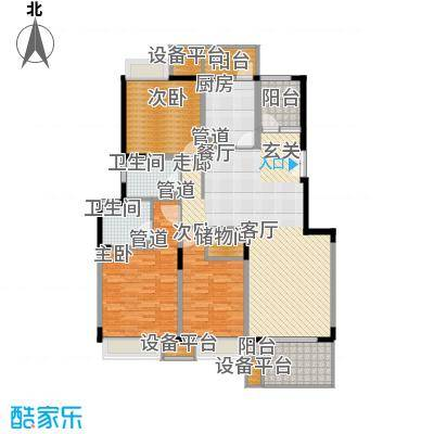 一期5、6、7、9幢标准层D户型图