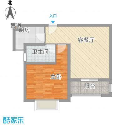 浦洲花园户型1室2厅1卫1厨