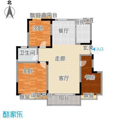 金浦名城世家110.62㎡二期04栋标准层D1户型3室2厅1卫1厨