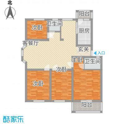 龙凤佳园129.65㎡龙凤佳园户型10室