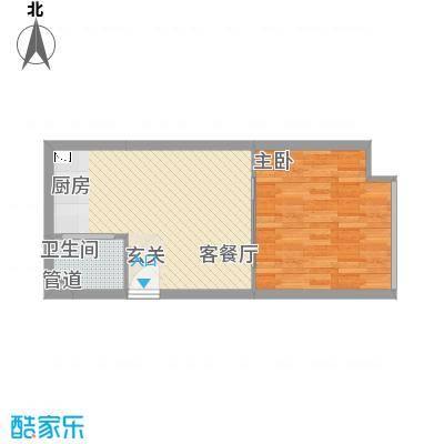 七彩小贵族51.11㎡七彩小贵族户型图E41室1厅1卫1厨户型1室1厅1卫1厨