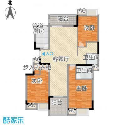 秦淮绿洲别墅147.00㎡三期小高层F2户型3室2厅2卫1厨