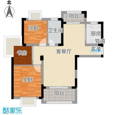红谷世纪花园93.00㎡红谷世纪花园3室户型3室