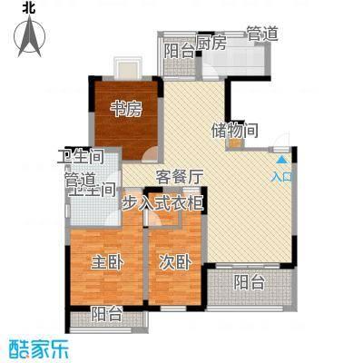 紫金园141.00㎡B-3小高层户型3室2厅2卫1厨