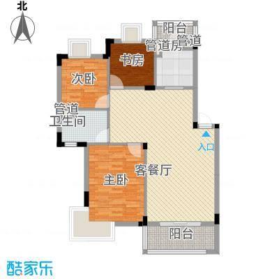 紫金园108.00㎡C户型3室2厅1卫1厨