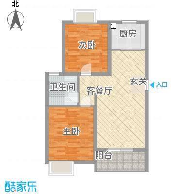 逸景湾89.00㎡二期6#楼新贵之魅户型2室2厅1卫1厨