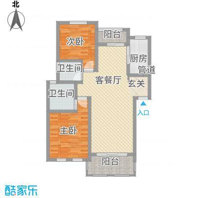 衡山城103.00㎡C-2型 已售完户型2室2厅2卫1厨