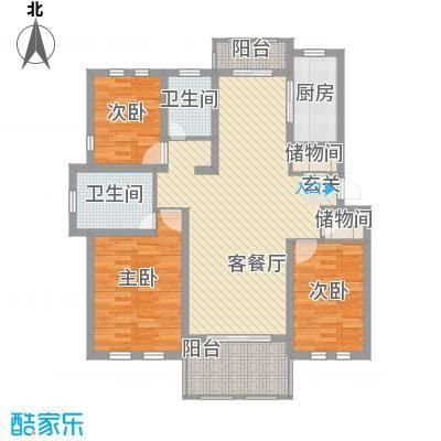 衡山城131.00㎡D-1型 已售完户型3室2厅2卫1厨