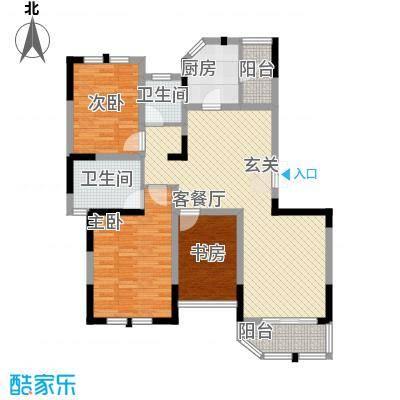 衡山城125.00㎡小高层B4型 已售完户型3室2厅2卫1厨