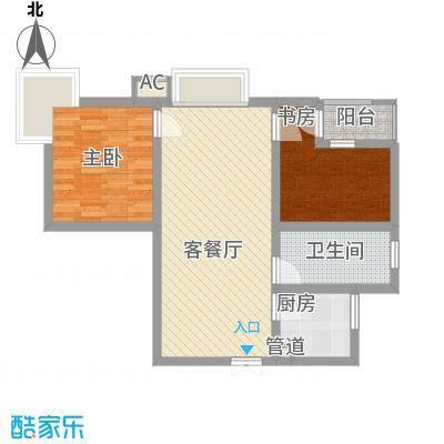 三丰公寓75.88㎡三丰公寓户型图户型E2室2厅1卫1厨户型2室2厅1卫1厨