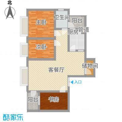三丰公寓103.04㎡三丰公寓户型图户型C3室2厅1卫1厨户型3室2厅1卫1厨