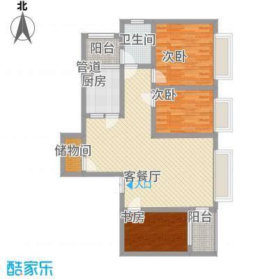 三丰公寓103.04㎡三丰公寓户型图户型C13室2厅1卫1厨户型3室2厅1卫1厨